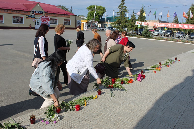 Сельчане почтили память погибших воинов-земляков