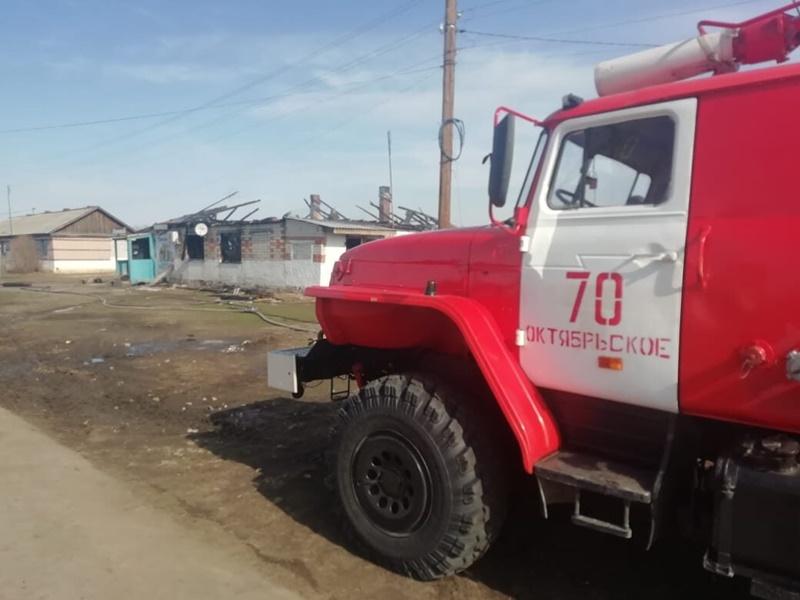 В Теренкуле сгорел магазин