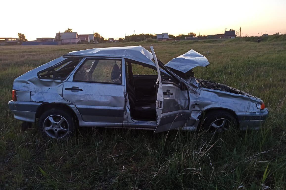 В результате аварии тяжелые травмы получила девушка-водитель