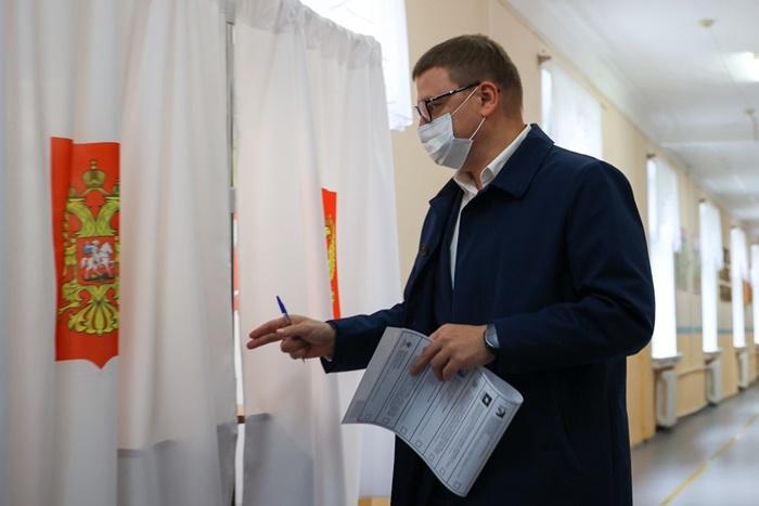 Алексей Текслер проголосовал на выборах в Госдуму в родной школе на ЧМЗ